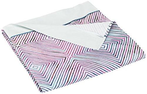 Anne de Solene Graphic Drap Plat Coton Violet 180 x 290 cm