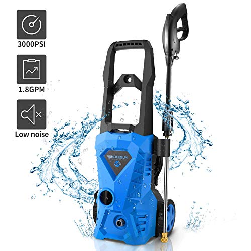 Fantastic Deal! WHOLESUN 3000 PSI Electric Pressure Washer 1.8GPM 1600W Power Washer 14.5-Amp High P...