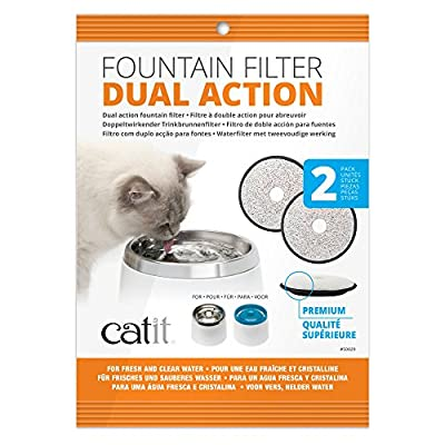 Catit Genuine Fresh and Clear Premium Replacement Filters, Pack of 2