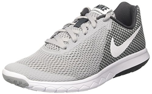 Nike Wmns Flex Experience RN 6, Sneakers Mujer, Gris (Wolf Grey/White/Anthracite/White), 42 EU