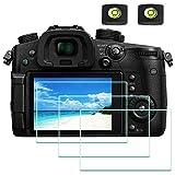 GH5 Protector de pantalla para cámara digital Panasonic LUMIX GH5 GH5S 4K y cubierta de zapata caliente, ULBTER 0,3 mm de dureza 9H Flim, antiarañazos, antihuellas y antiburbujas [paquete de 3]