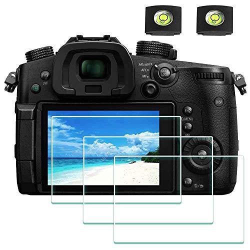 GH5 Displayschutzfolie für Panasonic LUMIX GH5 GH5S 4K Digitalkamera & Blitzschuh-Abdeckung, ULBTER 0,3 mm 9H Härte gehärtetes Glas Flim, Anti-Scrach Anti-Fingerprint Anti-Blasen [3 Pack]