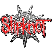 Slipknot Pin Badge 9 Pointed Star Band Logo 新しい 公式 レッド Lapel Metal Size One Size