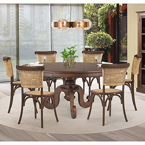 Jogo Mesa de Jantar Mariah 140cm com 06 Cadeiras Very Canela - Gran Belo