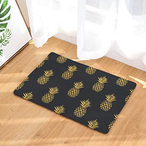 Nunbee Paillasson Imprimé Ananas Designe Tapis de Sol antidérapant extérieur d'entrée Interieur Fibre de Coco Geek Chat Chouette cerf Multicolore, Ananas2...