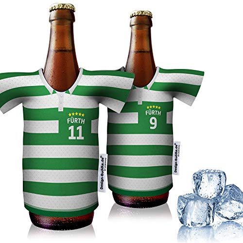 vereins-Trikot-kühler Home für Spvgg Fürth Fans   2er Fan-Edition  2X Trikots   Fußball Fanartikel Jersey Bierkühler by ligakakao.de