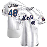 TIEON Mets # 48 Jacob Uniforme de béisbol, Uniforme de Estrella de Tela elástica y Transpirable, Uniforme de béisbol para Hombres y Mujeres B-M