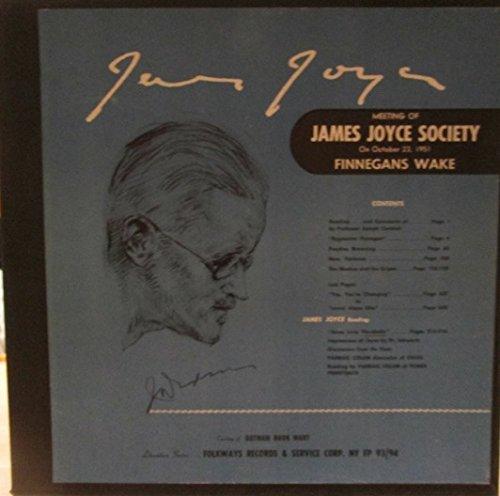 Meeting of James Joyce Society on October 23, 1951 Finnegan's Wake; James Joyce Reading. Courtesy of Gotham Book Mart Literature Series. Lp Boxed Set