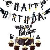 JeVenis Magier Alles Gute zum Geburtstag Banner Wizard Birthday Party Supplies…