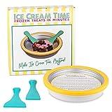 IceCream Maker - Frozen Treats in Minutes - Ice Cream Time Pan - Frozen Yogurt, Sorbet, Gelato -...