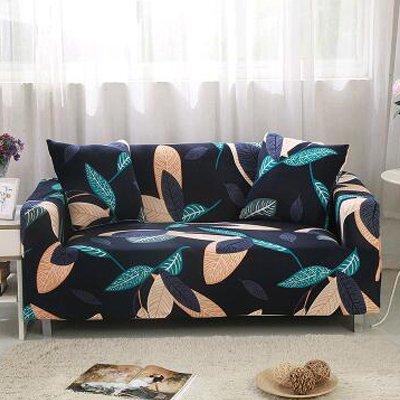 PCSACDF Hoezen Sofa Flower Patroon Cove All-inclusive Hoes, antislip, elastische volle slaapbank, 1/2/3/4-zits, 4-zits 20