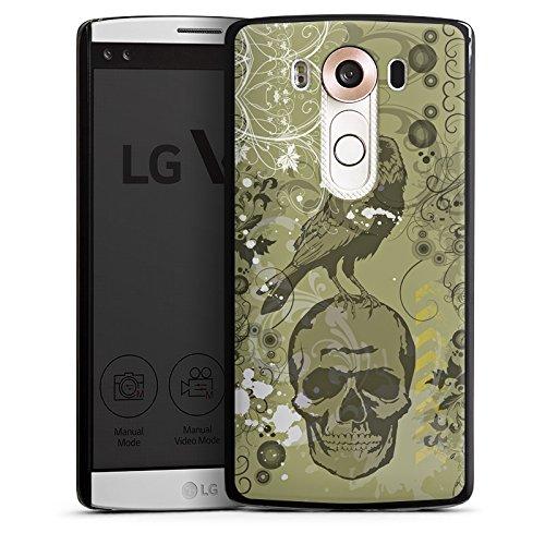 DeinDesign LG V10 Hülle Case Handyhülle Rabe Raven Totenkopf