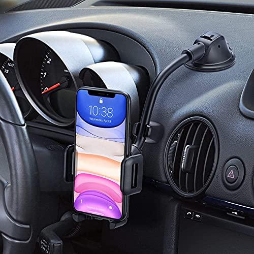 Handyhalterung Auto,Handyhalter Auto Saugnapf für iPhone Universale Kfz Handyhalterung für Armaturenbrett/Windschutzscheiben Stoßfest-Stabilisator-Design Halterung Auto für iPhone12/11,Galaxy20,LG usw