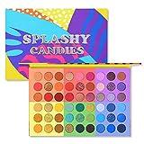 Seraphicar - Paleta de sombras de ojos de 54 colores, de alta pigmentación, mate, brillante, de pigmentos de sombra de ojos en polvo, multicolor, resistente al agua