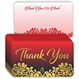 Thank You Business Cards - (Pack of 100) Gold Foil Letterpress 3.5' x 2' Kindness Matters Appreciation Encouragement Greeting Note Card for Customers Employees Teachers Coworker Staff