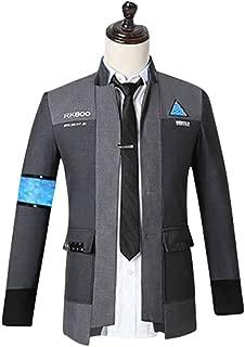 COSBOOM Halloween Men's Detroit Become Human Connor Jacket Coat Uniform Suit Cosplay Costume