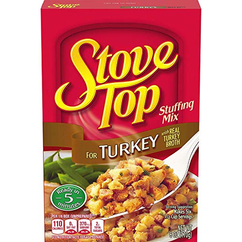 Stove Top Stuffing Mix, Turkey, 6 Ounce (Pack of 2)