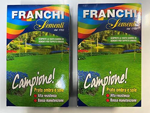 Semi per prato miscuglio alto calpestio Franchi Confezione da 1 Kg OFFERTA X 2 PEZZI CON GUANTI IN OMAGGIO