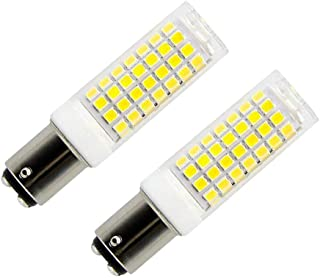 Ba15d led Light Bulb Dimmable 8.5W, 75W-100W Halogen Bulbs Replacement, Double Contact Bayonet Base 110V 120V 130V Input, Daylight White 6000K (Pack of 2)