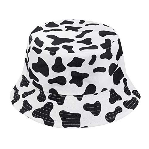 SOIMISS Cappello da Pescatore Reversibile con Stampa Mucca Cappello da Pescatore Reversibile da Spiaggia