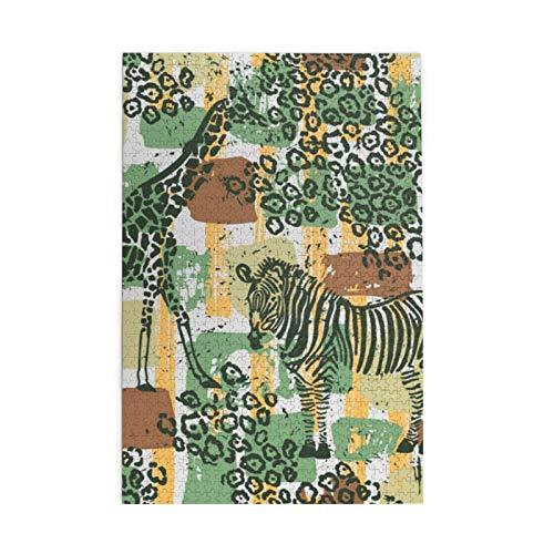 Puzzles 1000 Teile Giraffen Zebras Holz Puzzles Home Entertainment Spielzeug Spiele Puzzles für Erwachsene Kinder Bild Dekoration Puzzles Kunst