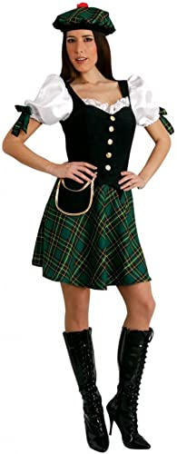 Mortino Fancy Robe Costume Scottish Outfit Taille S-XL Robe vert Check Scotland Fancy Robe