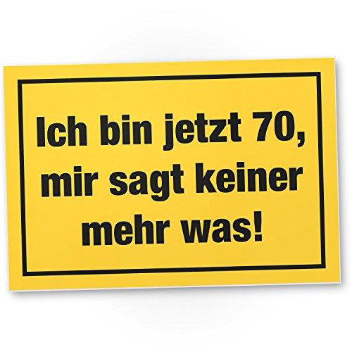Bedankt! Ich Bin 70 jaar, plastic bord - Cadeau 70 verjaardag, cadeau-idee verjaardagscadeau zeventig, verjaardagsdeco/feestdecoratie/feestaccessoires/verjaardagskaart