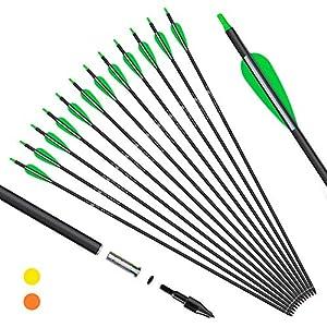 KESHES Archery Carbon Arrows for Compound & Recurve Bows