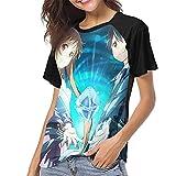 huatongxin Sword Art Online - Camiseta de béisbol para Mujer con Cuello Redondo
