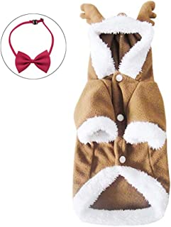 Wow4pets Pet Clothes Christmas Dog Cute Elk Cosplay Costumes for Autumn & Winter