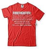 Silk Road Tees Hombres Camiseta del Bombero Bombero Divertido Sustantivo Ocupación Camiseta Medium Verde