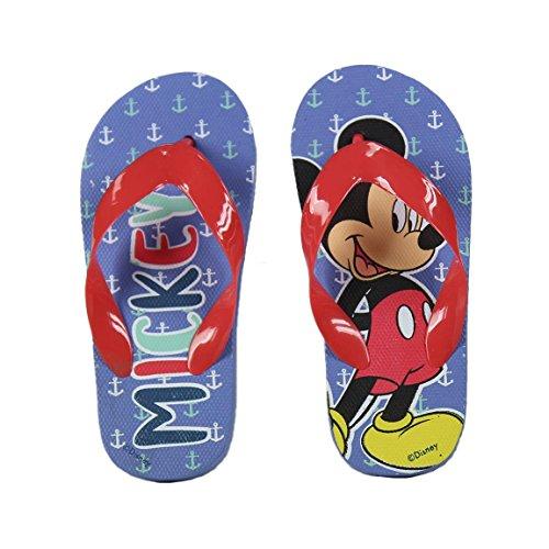Mickey Mouse Unisex Kinder S0708389 Flipflop, Blau/Rot, Medium