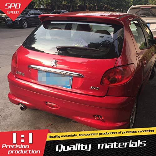 Alerón trasero para Peugeot 206 207, material ABS, color de imprimación, alerón trasero para Peugeot 206 Alerón 2008-2013