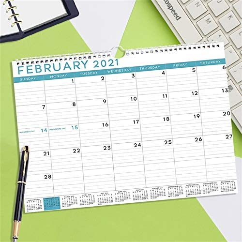 Goditemes 2021 Annual Desk Calendar with Blue Pattern Calendar Hanging Calendar with Notes and product image