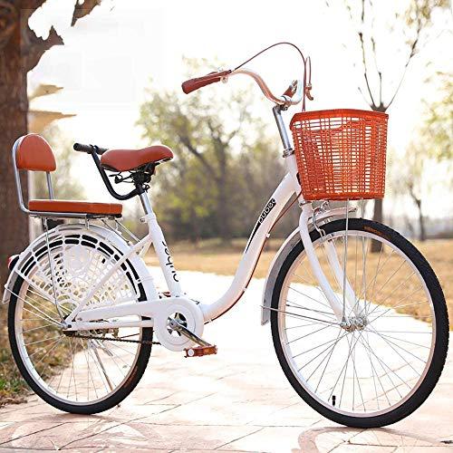 Urban Commuter Bike, bicicleta de ciudad para hombre y mujer, bicicleta de ciudad ligera de 24 pulgadas para montar en la ciudad y desplazamientos, incluye bomba, cerradura de bicicleta, D