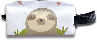 Funny Sloth Laying On Cactus Adorable Animal_1663 Canvas Makeup Bag Pouch Purse Handbag Organizer with Zipper