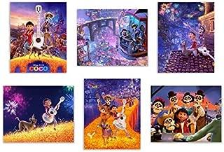Crystal Coco (2017) Art Prints - Set of Six Pixar Mexican Dia de Muertos Decor Wall Photos 8x10 Land of The Dead