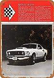 Ford Mustang Boss Blechschilder Vintage Metall Poster Retro