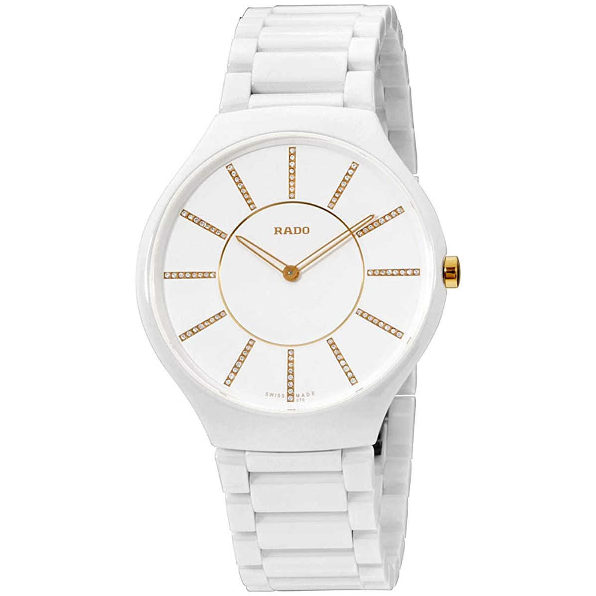 影響を受けやすいです音楽インチRado True Thinline Jubile腕時計r27957702