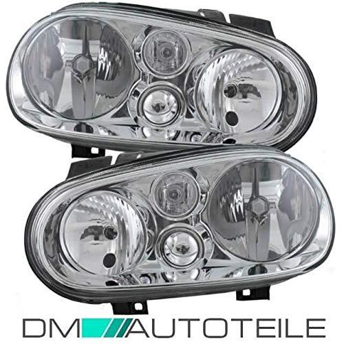 DM Autoteile Golf 4 IV Scheinwerfer Rechts Links 97-06 Klarglas +LEUCHTMITTEL +Garantie