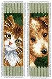 Vervaco Cross Stitch Bookmark Kit (Set of 2) Cat and Dog I 2.4' x 8'