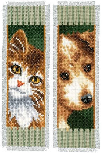 Kit marque-page Chat et chien lot de 2