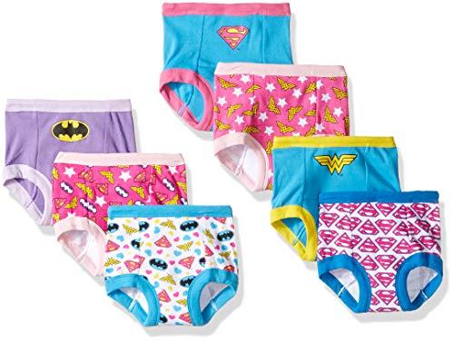 DC Comics Baby Toddler Girls' 7-Pack, JLG7pk, 2T