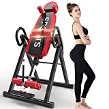 Yoleo Gravity Heavy Duty Inversion Table with Headrest & Adjustable Protective Belt Back Stretcher Machine for Pain...