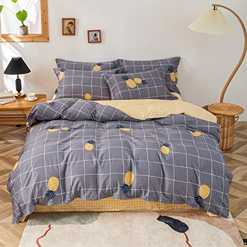 DACHANGTUI Stripe Printed Duvet Cover Set Pure Cotton Adult Girls Bedding Set Children Bedclothes Single Queen King Size Cotton Bed Sets