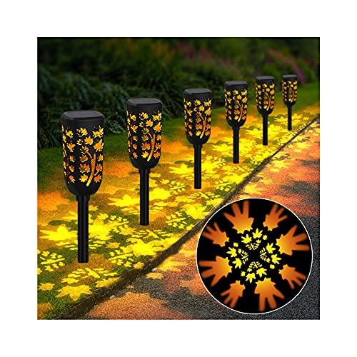 Solarlampen für Außen, Midore 6 Stück LED Solarleuchten Garten IP65 Wasserdicht ABS Warmweiß 2000K Auto ON/OFF Gartenleuchte Dekorative für Terrasse Rasen Garten Hofwege Wege Teich