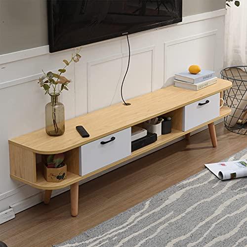 Peakfeng Gabinete de TV de pie, Consola de Soporte de TV de Madera, gabinete de Almacenamiento de Caja de Juego, Adecuado para Oficina/Hotel/Familia, autocontenido (Color : C)