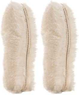 [2 Pair]REAL Pure Sheepskin Luxury Insoles Sheepskin Lambswool Blended Shoe Insoles   Durable & Fluffy   Perfect for Flat Shoes ([2-Pairs]Women US 6.5)