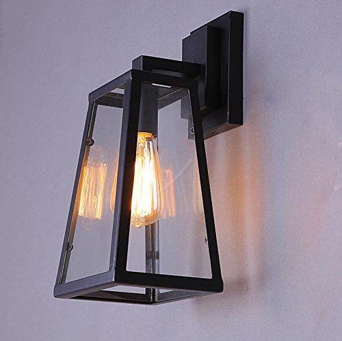 JJZHG Wandlamp wandlamp waterdichte wandverlichting wandlamp buitenbalkon creatieve wandlamp glazen kast decoratieve lamp bevat: Wandlamp, stoere wandlampen, wandlampen design