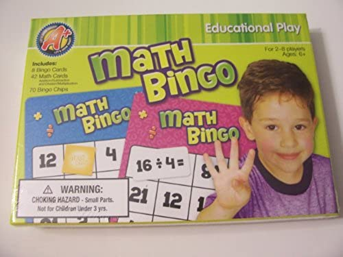 A+ Math Bingo Educational Play  2-8 Players by A+